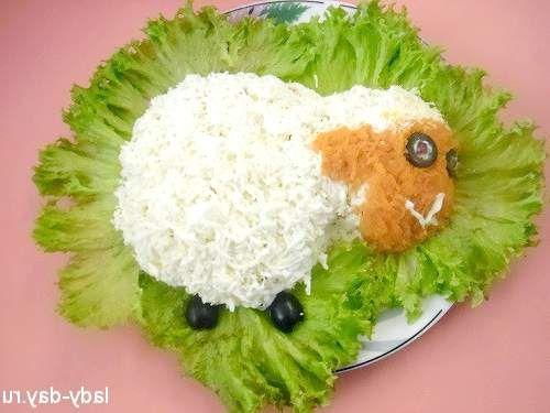 Салат у вигляді овечки