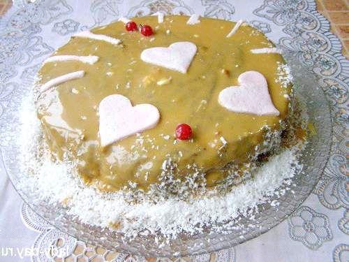 Торт шоколадно-медовий