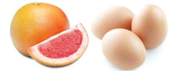 Варіанти яєчно-грейпфрутової дієти