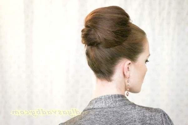 Висока зачіска на весілля з покроковим фото